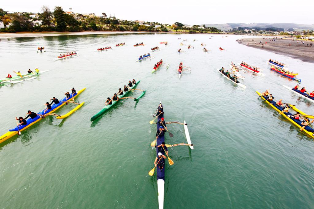 20th Anniversary of Waka ama Regatta, Raglan.