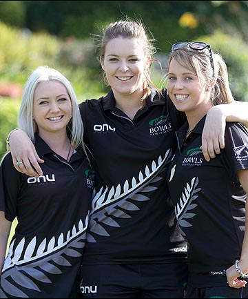 TALENTED TRIPLES: The New Zealand women's triples team from left, Selina Goddard, Many Boyd and Amy McIlroy.