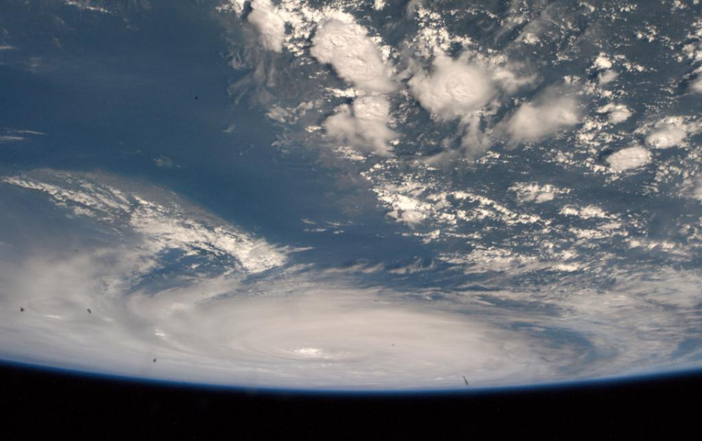 Astronaut Alexander Gerst posted this photo on his Flickr page, writing: 'Supertyphoon Neoguri did not even fit into our fisheye lens view. I have never seen anything like this.'