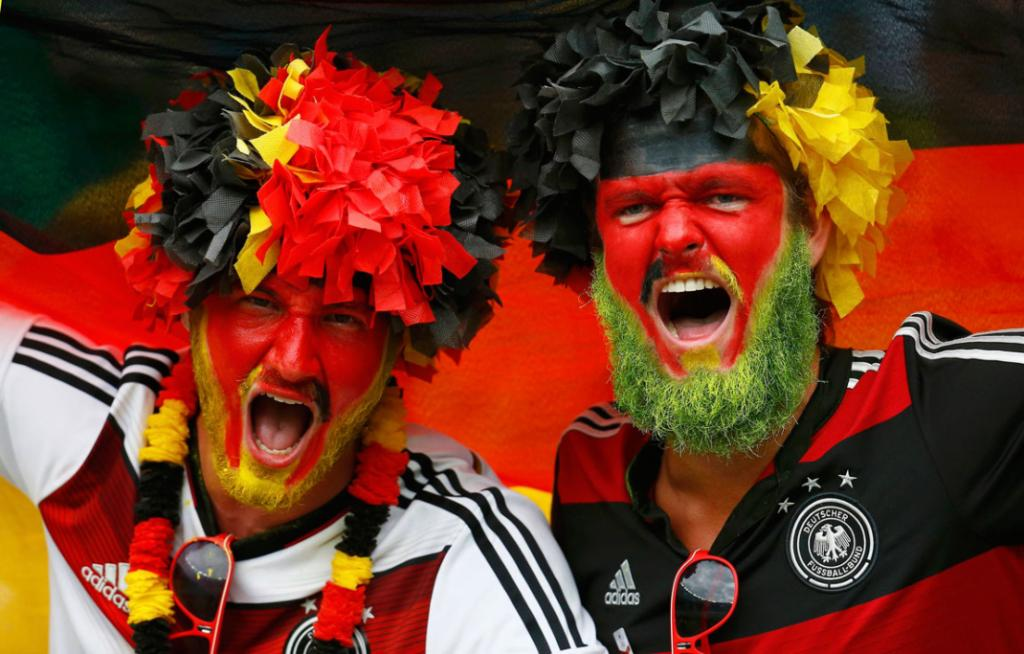 German fans didn't want to be outdone.