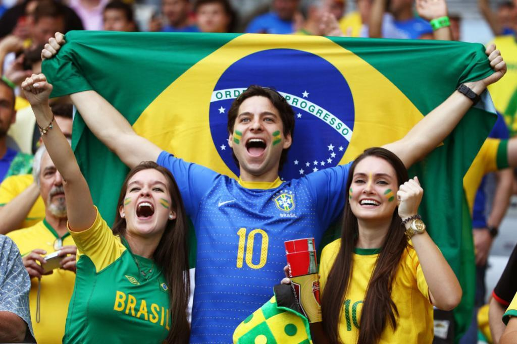 Fan fervour is reaching fever pitch as Brazil and Germany warm up for the semifinal.