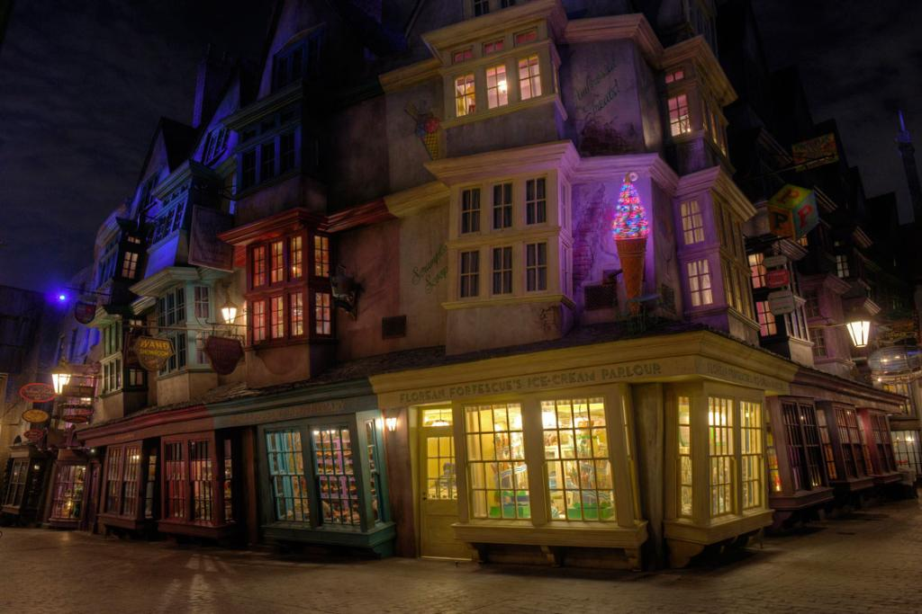 Diagon Alley, the new Harry Potter attraction at Universal Orlando in Orlando.