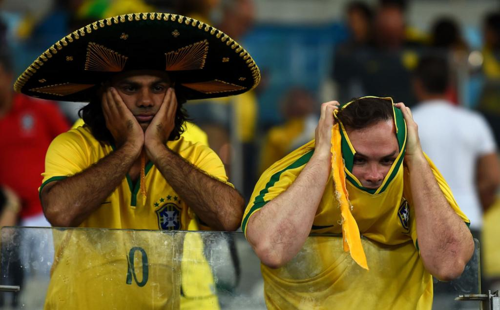Disbelief for Brazil fans after the World Cup hosts bundled out of the tournament by Germany.