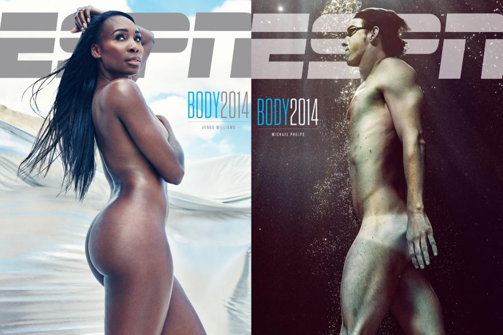 FIT TO BE NUDE: Venus Williams follows in the footsteps of her sister Serena, who appeared on the debut cover of the Body Issue back in 2009, while Michael Phelps is clearly back in peak form after revealing he got 'fat and out of shape' during his hiatus from swimming.