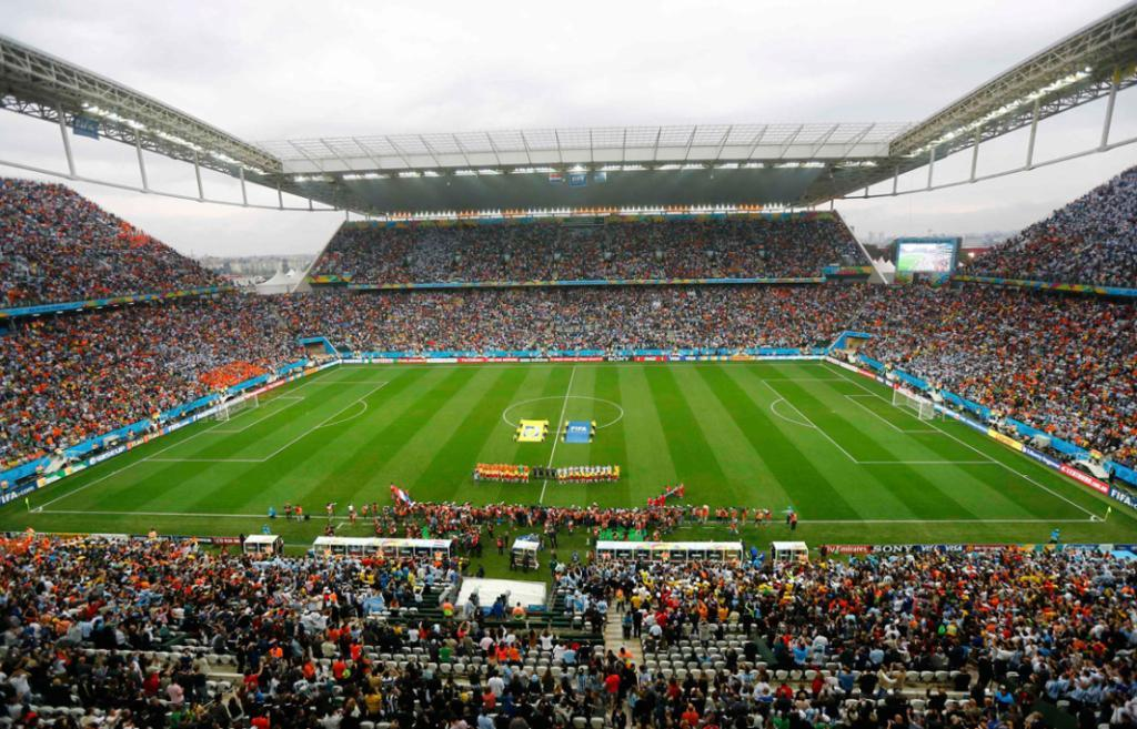 Corinthians arena in Sao Paulo, venue for the World Cup semifinal between Netherlands and Argentina.