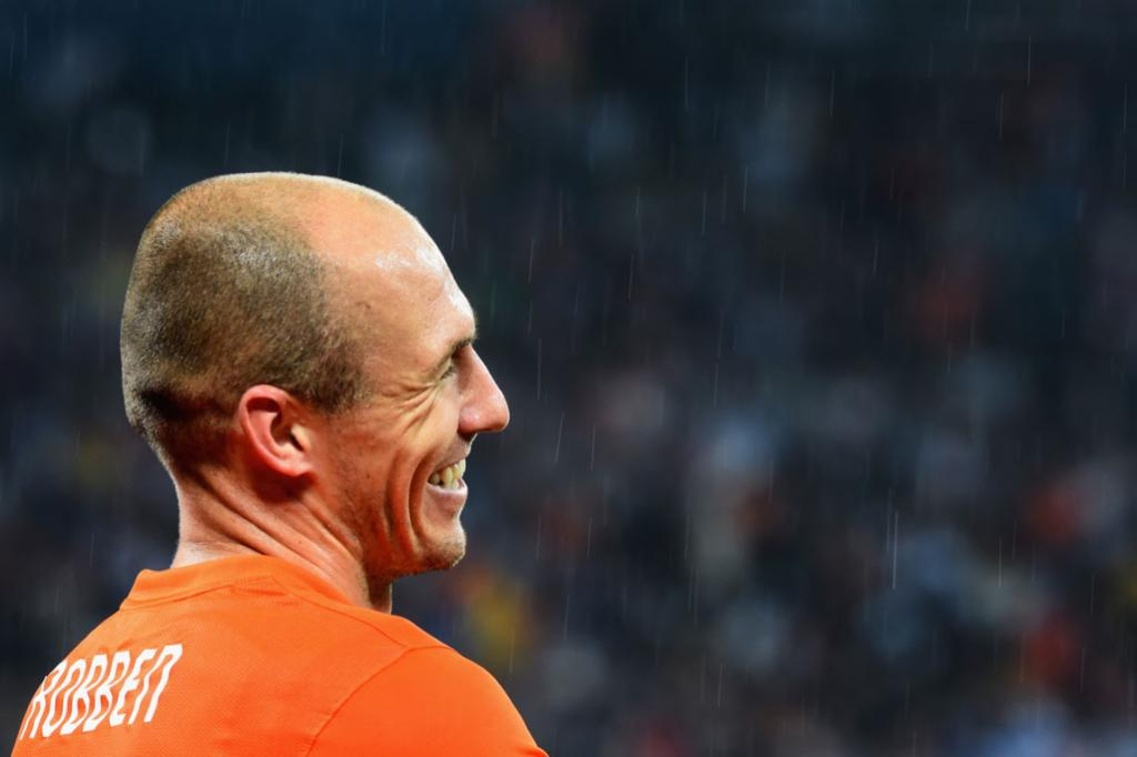 Robben gets away with one.
