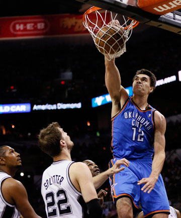 NET BAD: Kiwi Steven Adams continues to turn heads in the States after some strong performances in the NBA's Summer League.