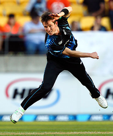 NEED FOR SPEED: Adam Milne was handed a New Zealand Cricket contract today and wants more game time for the Black Caps.
