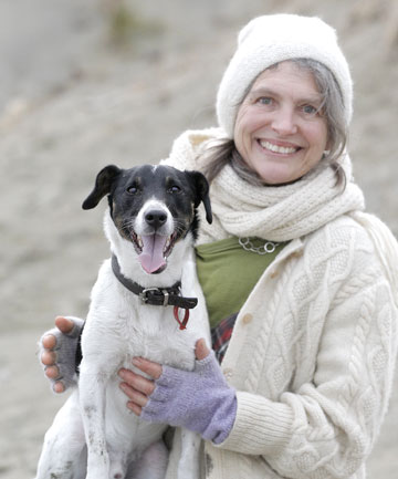 HEALTHY HOUND: Owner Josephine Brien and dog Cosmo don't have to worry about untreatable ''superbugs'' in New Zealand yet, but they could be on their way.
