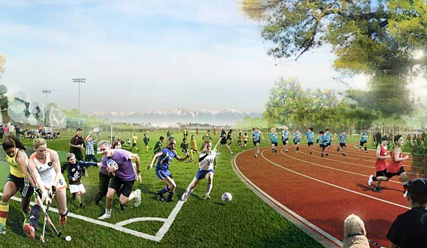 $107 million sports hub at Nga Puna Wai reserve