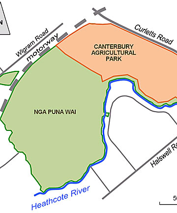 PREFERRED OPTION: Nga Puna Wai is next door to the showgrounds.