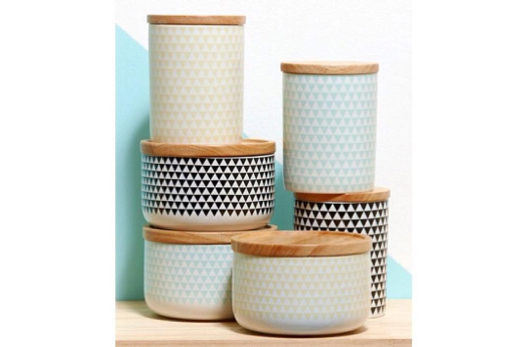 geometric canisters