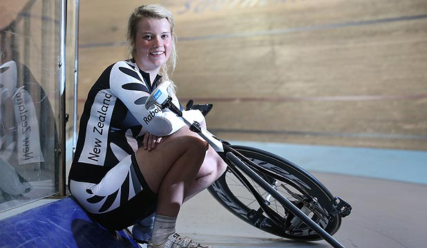 OVERWHELMING FEELING: New Zealand junior track cycling representative Laura Heywood.