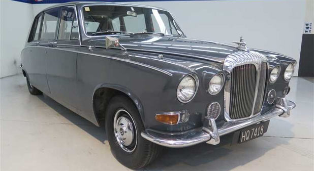 TOW AWAY: Christchurch's ex-Mayoral limousine, a 1970 Daimler, has sold for just over $32,000.