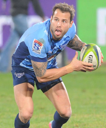 BULLDOZED: Francois Hougaard scored a try in his side's 40-7 drubbing of the Rebels in South Africa.
