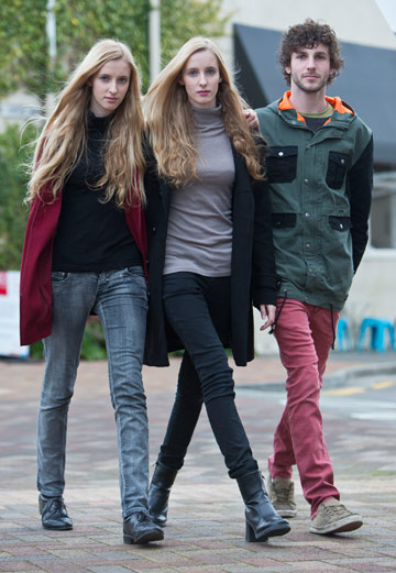 APPEAL: Norina Gasteiger, left, and her twin sister Chiara, 19, and their brother Danilo, 20, are trying to raise $80,000  for their mother, who has a rare form of lung cancer.