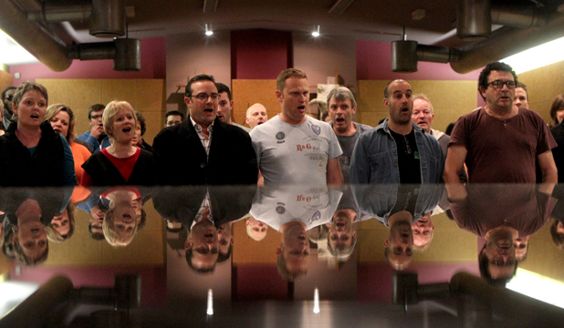 POLISHED: The view across the piano of the Christchurch Pops Choir.