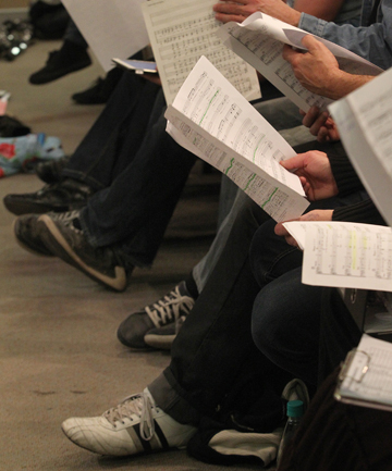 ON SONG: Singers audition and must read music.