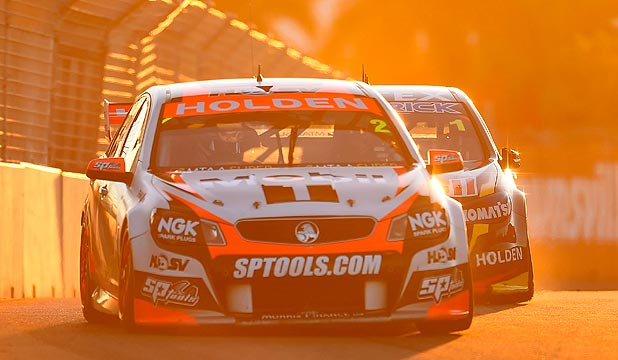 TEARING IT UP: Garth Tander put HRT back on top last weekend in Townsville.