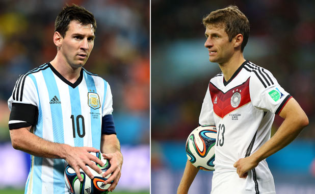 Lionel Messi and Thomas Mueller