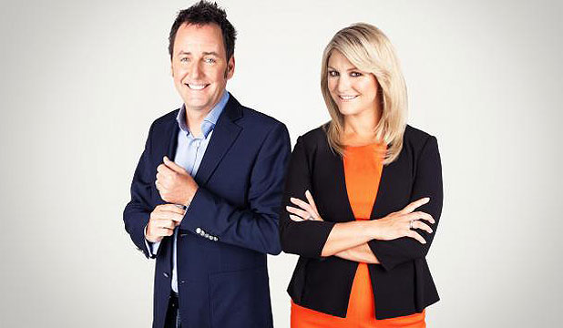 FORM REVERSAL: Mike Hosking and Toni Street in the revised Seven Sharp.
