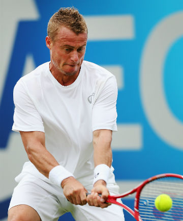 DECIDER: Lleyton Hewitt faces Ivo Karlovic in the final of the Hall of Fame Championships tomorrow.