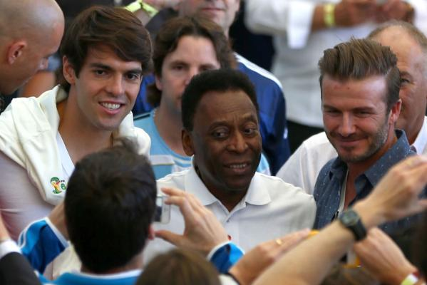 Kaka, Pele and David Beckham