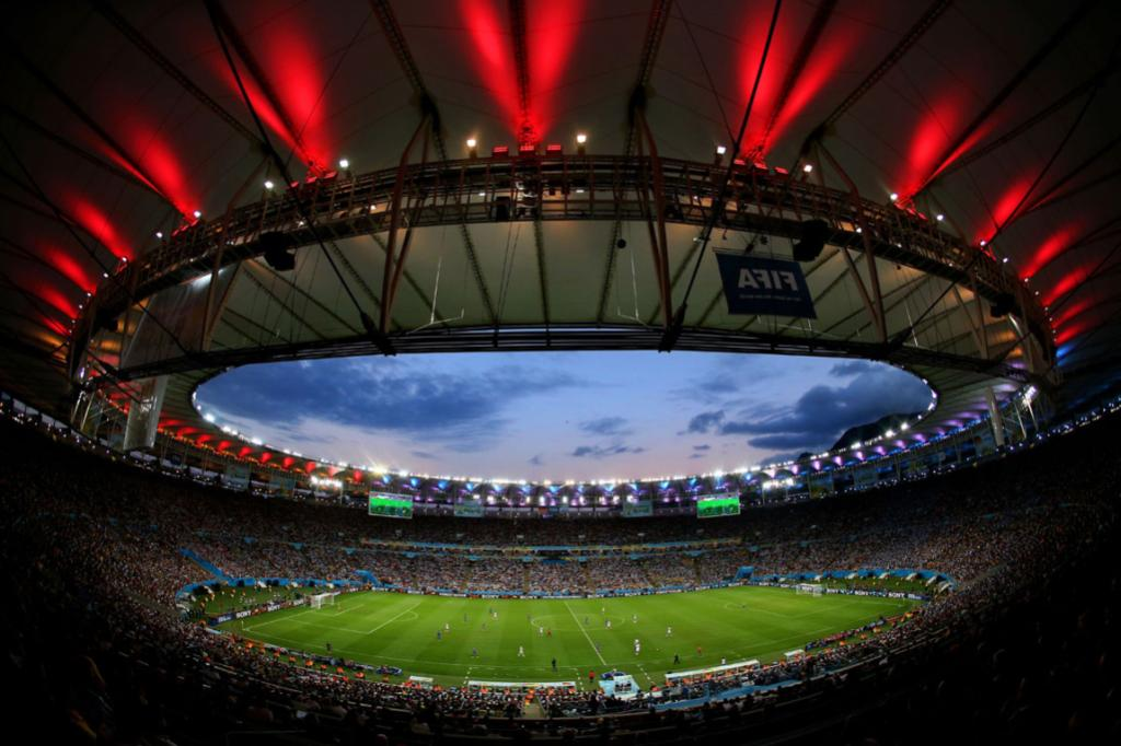 The Maracana Stadium in Rio de Janeiro was host to the World Cup final with over 70,000 in attendance.