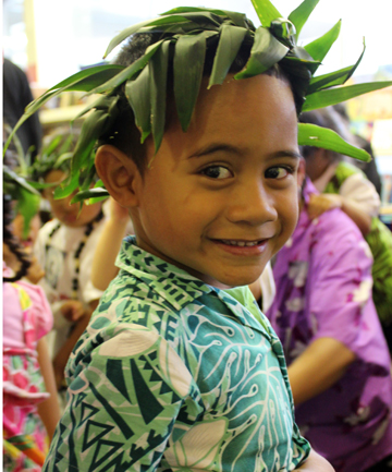 KEEPING THE LANGUAGE ALIVE: Molaitama Mola, 5, at Niue Language Week celebrations in Mangere, Auckland.