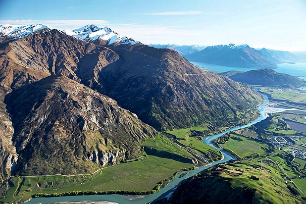 Kawarau River Station has 14km of river frontage with the Kawarau River and rises up the northern slopes of The Remarkables Range to the Remarkables skifield.