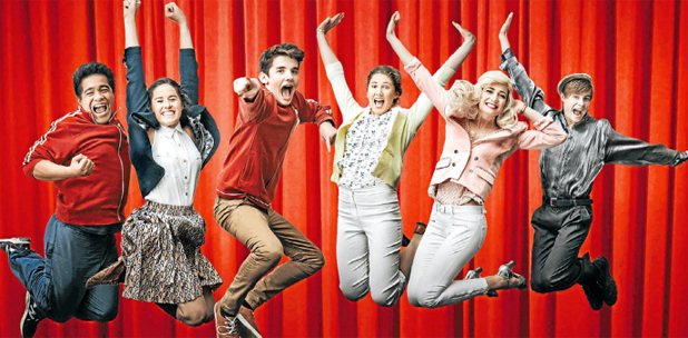 STAGE CRAFT:  Marlborough combined colleges students, from left, Sosaia Mesui, Olivia Burns, Jack Rainbird, Alice Schofield, Emma Logan and Ryan Cook are ready to bring High School Musical to life.