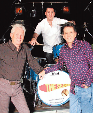 LP BAND:  Musicians from left, John McNally, Scott Ottaway, and Frank Allen in The Searchers still play their 1960s pop favourites.