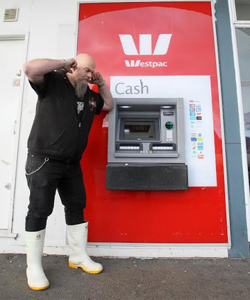 TAKE IT AWAY: Glengarry Takeaways owner Kerry Morton's ears are still ringing after he and his customers had to put up with a piercing Westpac ATM alarm that wailed for more than four hours on Sunday night.