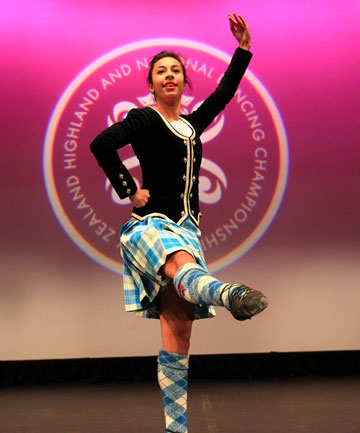 FINE FORM: Blenheim dancer Shirana Rengasamy, 18, was ranked ninth in the 18 years and over category at the 2014 Highland and National Dancing Championships.