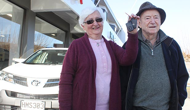 Doreen and Peter McKinlay have won a Toyota Rav4 after 20 years of buying Heart Foundation NZ raffle tickets.