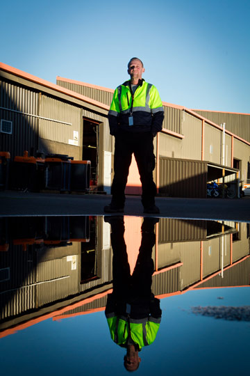 HAPPY WORKER: Darryl Anderson is happy to find a new job at well-known Waikato firm, Gallagher Group.