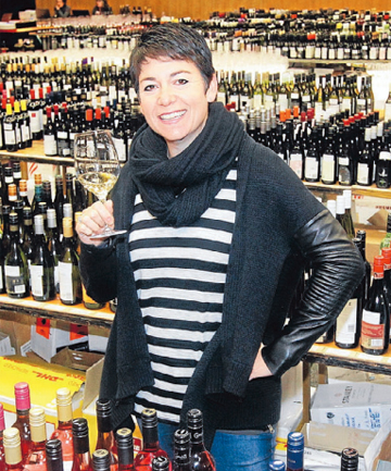 BOTTOMS UP: Wine Competition Ltd director and event organiser Belinda Jackson raises a glass to the start of the Spiegelau International Wine Competition