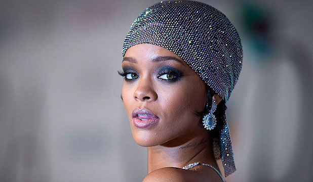 DIPPING HER TOES: Rihanna briefly enters political fray.