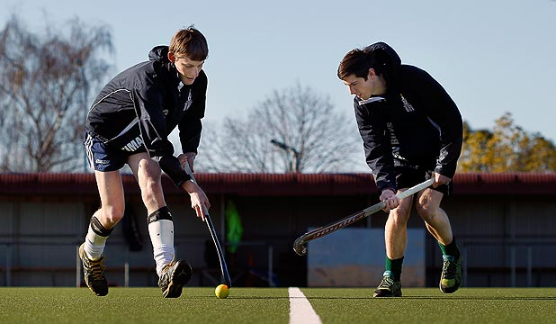 TOP EFFORT: Luke Cullen and Shaun Coles were two of three current South Canterbury players in the victorious Canterbury under-18 hockey team at the national championships. Willy Carter was overseas.