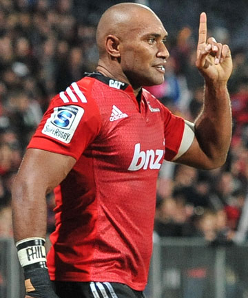 LEADING THE WAY: Nemani Nadolo's speed and strength has boosted the Crusaders this year - helping to push them to the NZ conference title.