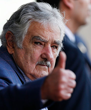 FREE WORLD: Uruguayan President Jose Mujica has been a vocal opponent of the United State's indefinite detention without trial at Guantanamo Bay.