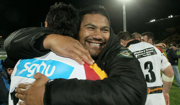 CHARGED: Ted Tutpoar Tauroa, seen here during the Ranfurly Shield.