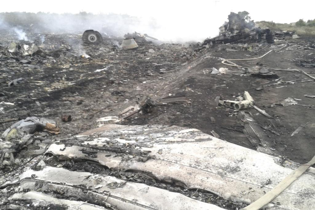 The crash site of Malaysia Airlines flight 17 near the village of Grabovo, Ukraine.