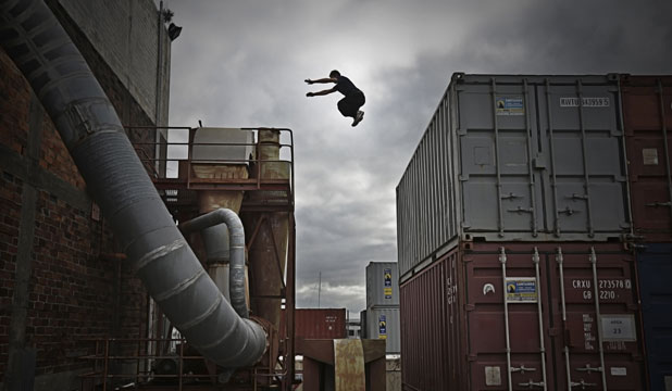 NO SAFETY NET: ''Traceur'' Max Arshavsky in downtown Auckland.