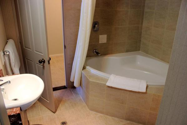 Our hotel suite - the bathroom.
