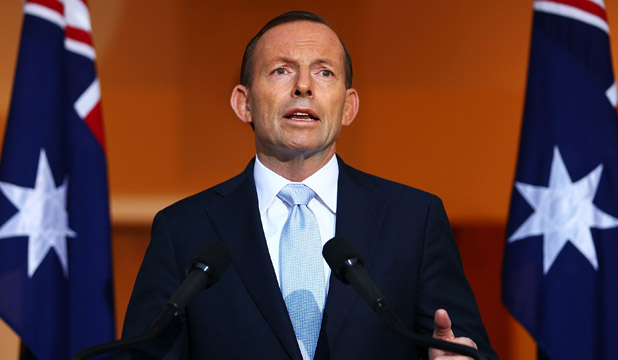 Australian PM Tony Abbott speaks after MH17 crash