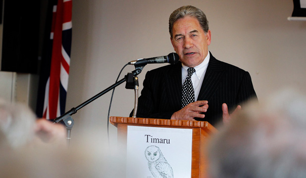 RURAL HEARTLAND: Many people turned up to Winston Peter's speech at Grey Power Timaru to hear his policies in person.
