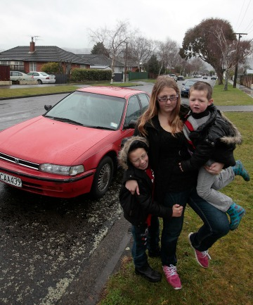 TRUSTY OR RUSTY?: Solo mum Kerryn Hailwood says she was ripped off after buying this rusty Honda Accord, which was advertised on Trade Me as a reliable runner but turned out to be unroadworthy.  Being carless has increased her burden in caring for special needs sons Seth, 6, left, and Anthony, 4.