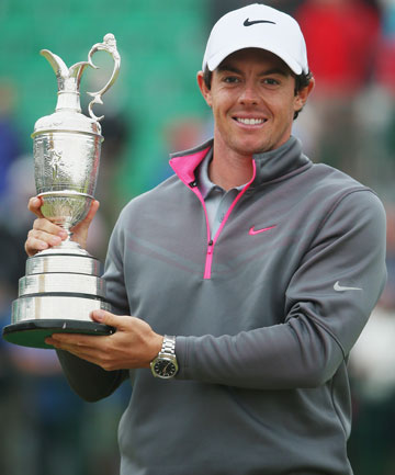 BRITISH OPEN CHAMPION: Rory McIlroy holds the Claret Jug after winning at Royal Liverpool.