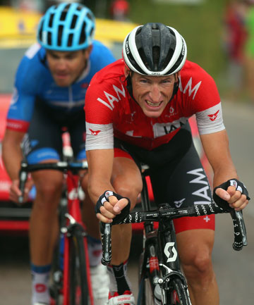 ON THE BREAK: Jack Bauer and Martin Elmiger worked together to lead stage 15 of the Tour de France for about 222km.
